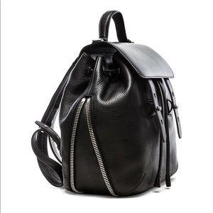 MACKAGE Bane backpack black leather zipper